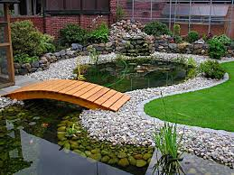 Backyard Bridge Garden Pondlove The Wooden Bridges Yard Water Features