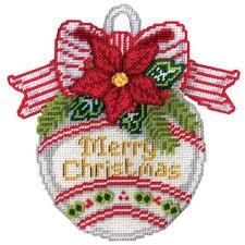 design works merry ornament plastic canvas