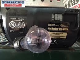 garage opener light bulb why did my garage door opener light stop working