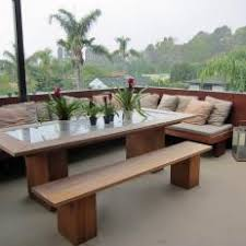 Patio Dining Set With Bench Photos Hgtv