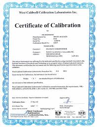 calibration report template certificate sles