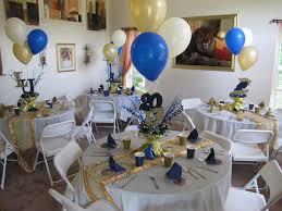 Home Party Decor Lasalle University Graduation Party Gold Blue And Cream Décor