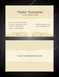 Business Cards Front And Back Business Card Creative Design Vintage Elegant Style Light Print