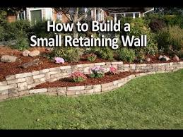 Building A Backyard Garden by How To Build A Small Retaining Wall In A Weekend Youtube