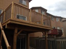 dream house deck and fence about