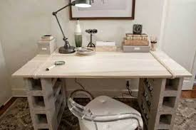 Build Basic Wooden Desk by Simple Desk With Wood Planks And Cinder Blocks My Challenge