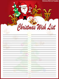 christmas wish list christmas wish list template best word templates