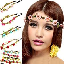 flower hair band polytree 7pcs boho style flower women hair band