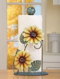 themed paper towel holder sunflower paper towel holder kitchen table counter home country