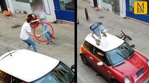 home depot machete black friday thugs rip off balaclavas during brutal machete street fight then