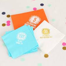 personalized napkins birthday napkins birthday