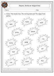 adjectives and nouns worksheet noun and verb worksheet