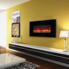 40 inch electric fireplace in black by yosemite home decor df efp1000