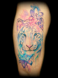 lucky bamboo tattoos feminine watercolor style tiger