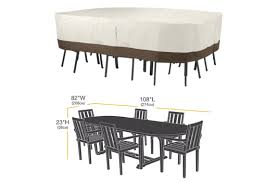 Rectangular Patio Tables Amazonbasics Lg Patio Table Set Cover Lawngardenscape