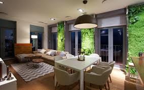 natural apartment interior design with beautiful indoor gardening