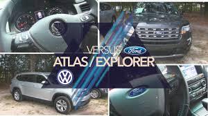 volkswagen atlas white interior new 2018 vw atlas vs 2017 ford explorer review exterior