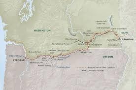 Columbia River Map Columbia River Adventure Cruise Uncruise Adventures