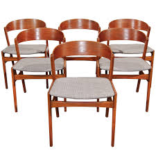 Teak Dining Chair Set Of 6 Ribbon Back Teak Dining Chairs By Dux Teak Dining