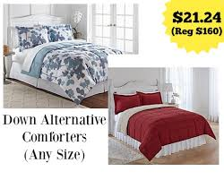 Colored Down Alternative Comforter Print And Solid Color Down Alternative Comforters Only 21 24
