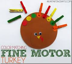 color matching motor turkey for preschoolers thanksgiving