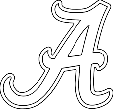 Alabama University Of Alabama A Text Coloring Page Wecoloringpage Alabama Crimson Tide Coloring Pages