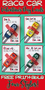 race car valentine u0027s cards free printable