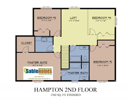 upper floor plan hampton sable homes