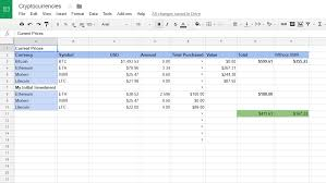 spread sheet cryptocurrency spreadsheet u2014 steemit