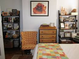 decorating small master bedroom on a budget sopen shelves wall