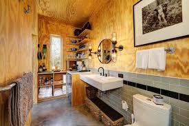 Rustic Industrial Bathroom by Interior U0026 Architecture Naturally Rustic Industrial Bathroom Used