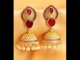 buttalu earrings antique jhumkas designs indian gold buttalu models