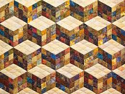 tumbling blocks quilt superb well made amish quilts from