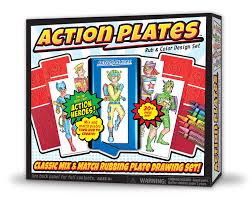 amazon com action plates drawing playset toys u0026 games