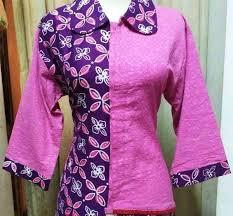 Baju Batik Batik ッ 40 model baju batik kombinasi kain polos embos sifon brokat