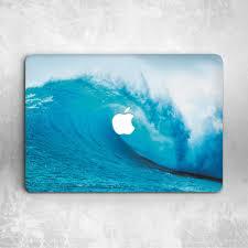ocean sea wave design hard cover case for macbook pro retina air