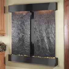 waterfalls decoration home accessories interactive image of mounted wall lighted black stone