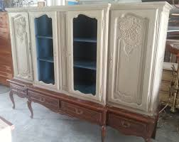 china cabinet painted with old white chalk paint decorative paint