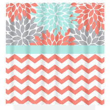 Turquoise And Grey Shower Curtain Best Flower Burst Shower Curtain Products On Wanelo