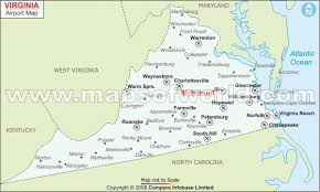 virginia map buy virginia airports map