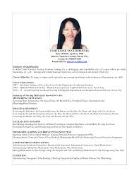 Resume Writing Learning Objectives by Example Student Nurse Resume Free Sample Nursing