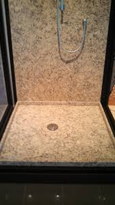 custom shower pans granite quartz distinctive tile