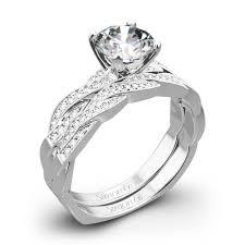 gold wedding set simon g mr1498 d delicate diamond wedding set 3431
