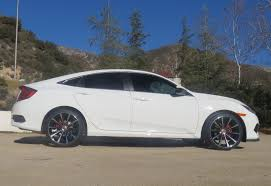 porsche black rims new deep concave custom 19 inch wheels on lx 2016 honda civic