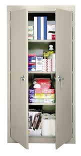 Office Depot Shelves by Sandusky 30 Steel Storage Cabinet With 3 Fixed Shelves Putty By