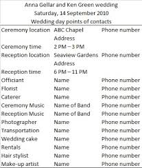 wedding itinerary template for guests wedding day itinerary for bridal party template badi deanj