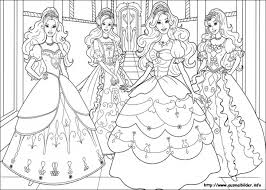 beautiful barbie princesses coloring girls