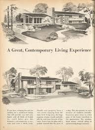 vintage house plans mid century homes vintage house plans