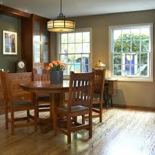 mission dining room table room craftsman lighting dining room a home gets makeover in