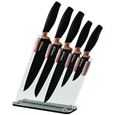 kitchen knives block kitchen knife block set copper 5 set with knives clear
